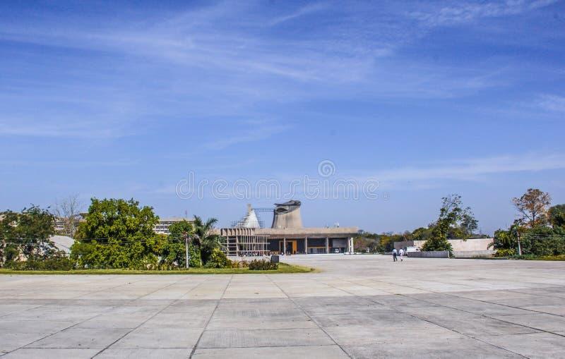 Palais d'Assemblée ou d'Assemblée législative, Chandigarh, Inde images libres de droits