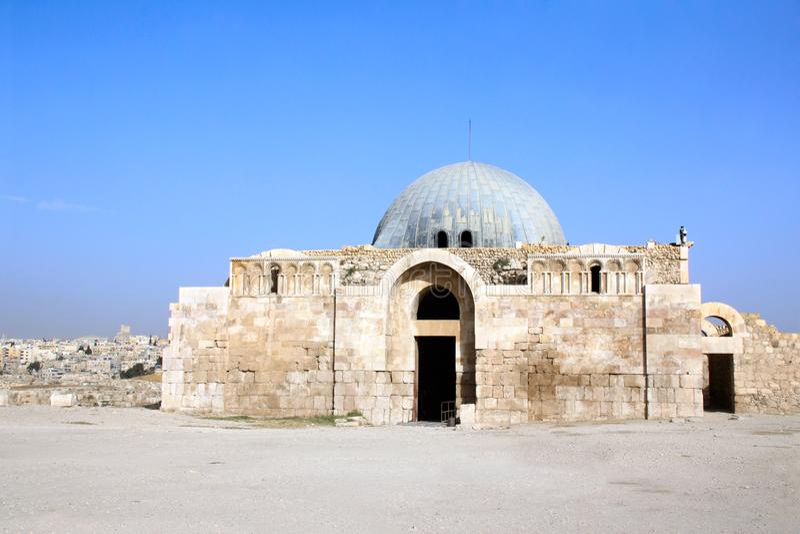 Palais d'Umayyad de citadelle d'Amman, Amman, Jordanie photographie stock libre de droits