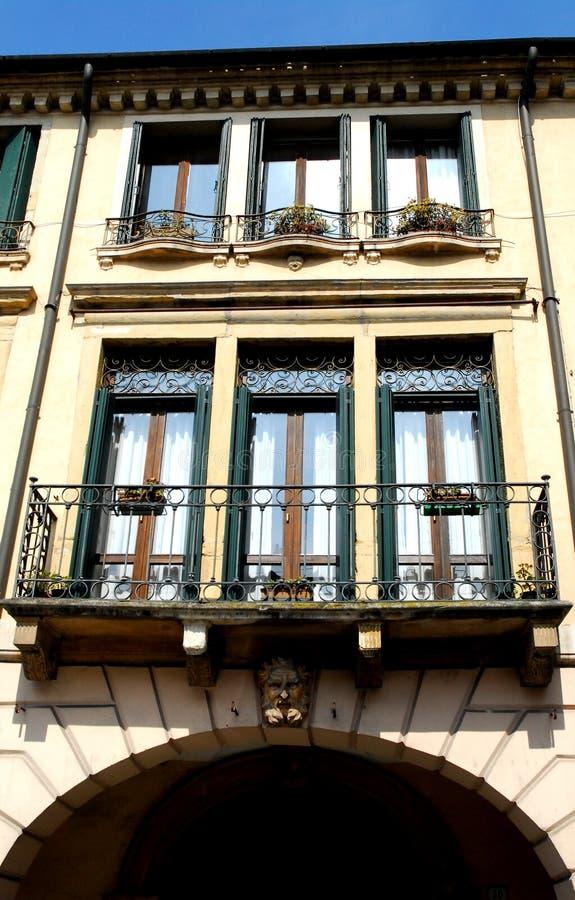 Palais dans la rue Tati à Padoue en Vénétie (Italie) photo libre de droits