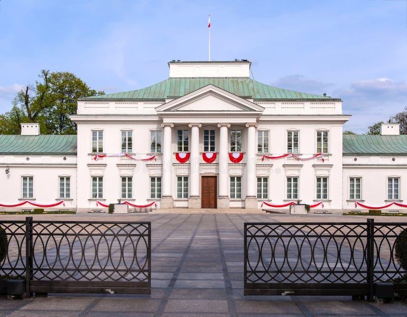 Palais de belvédère à Varsovie, Pologne images libres de droits