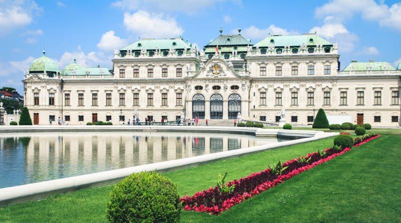 Palais de belvédère dans Wien, Autriche images libres de droits