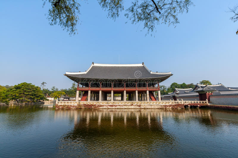 Palais de côté de Gyeongbokgung photo stock