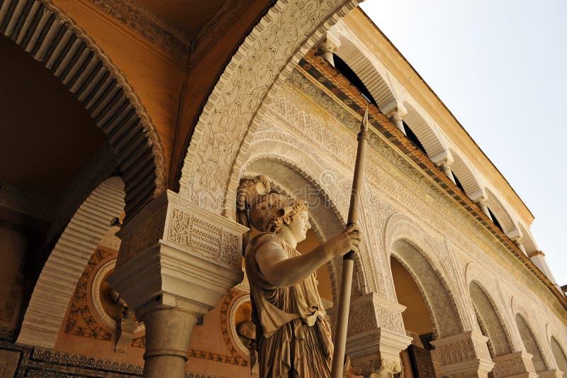 Palais de Casa de Pilatos, Pallas Athena, Séville, Espagne images libres de droits