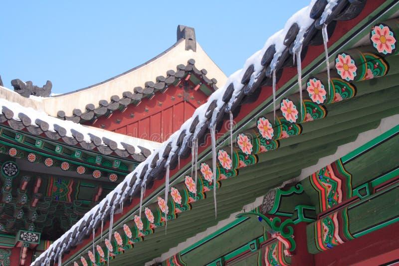Palais de Changdeokgung image stock