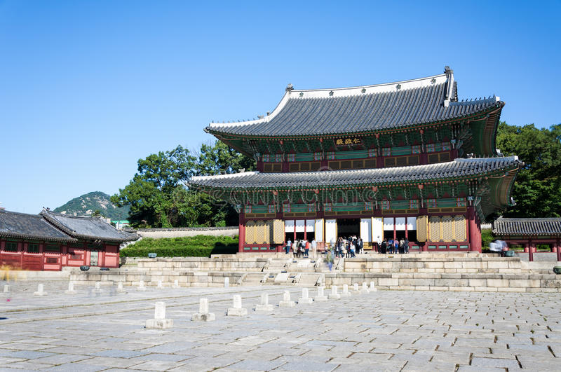 Palais de Changdeokgung photo stock