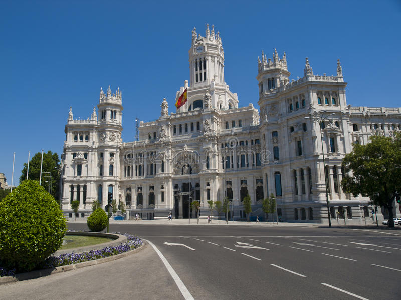 Palais de Cibeles, Madrid image stock