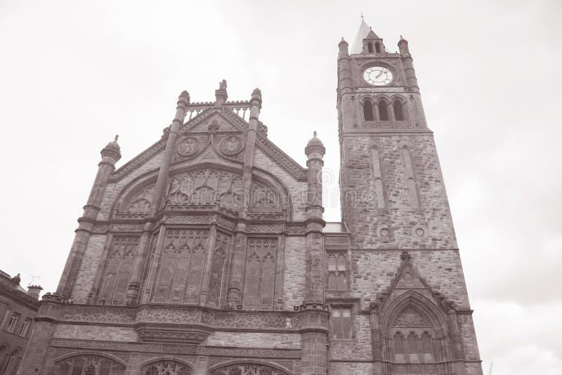Palais de corporations, Derry - Londonderry, Irlande du Nord image stock