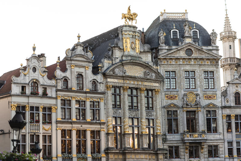 Palais de corporations sur Grand Place, Bruxelles, Belgique photo libre de droits