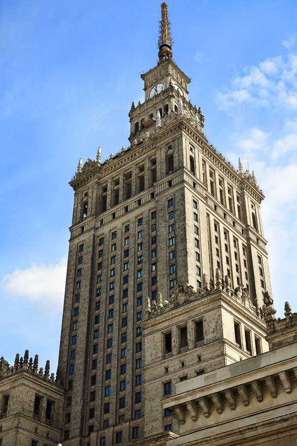Palais de culture et de la Science à Varsovie photos libres de droits