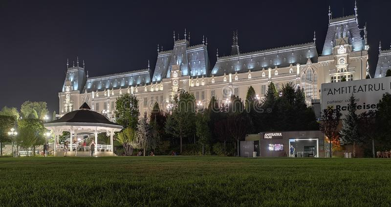 Palais de culture de ville d'Iasi, Roumanie images stock