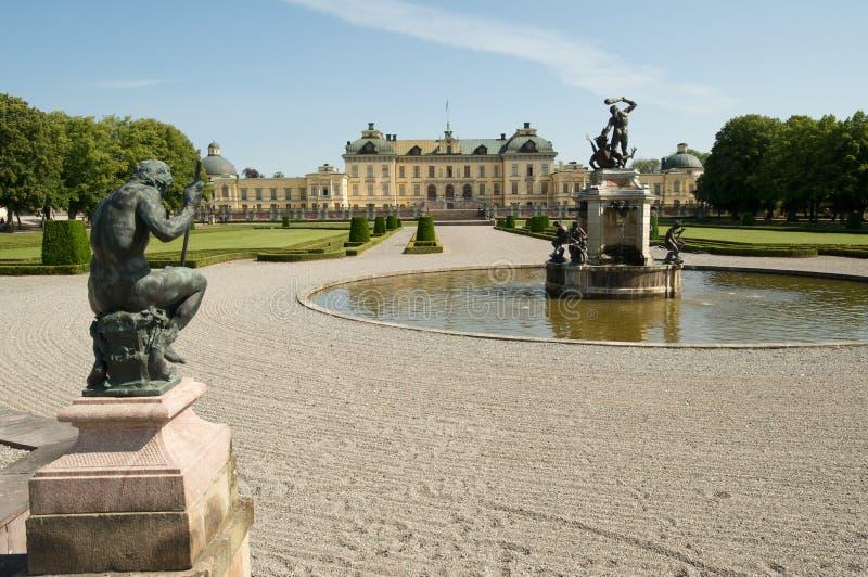 Palais de Drottningholm à Stockholm image libre de droits