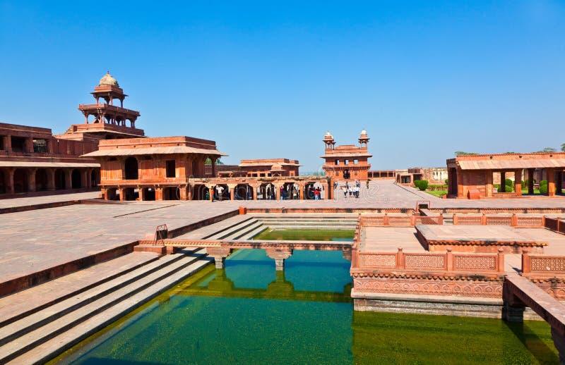 Palais de Fatehpur Sikri, Inde. images stock