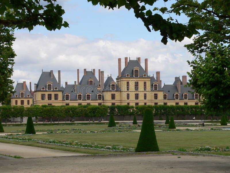 Palais de Fontainebleau (Francia) immagini stock