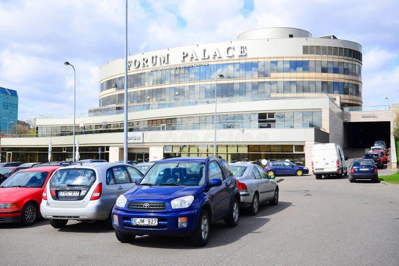 Palais de forum - maison culturelle dans la ville de Vilnius images libres de droits