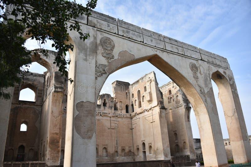 Palais de Gagan Mahal, Bijapur, Karnataka, Inde images libres de droits