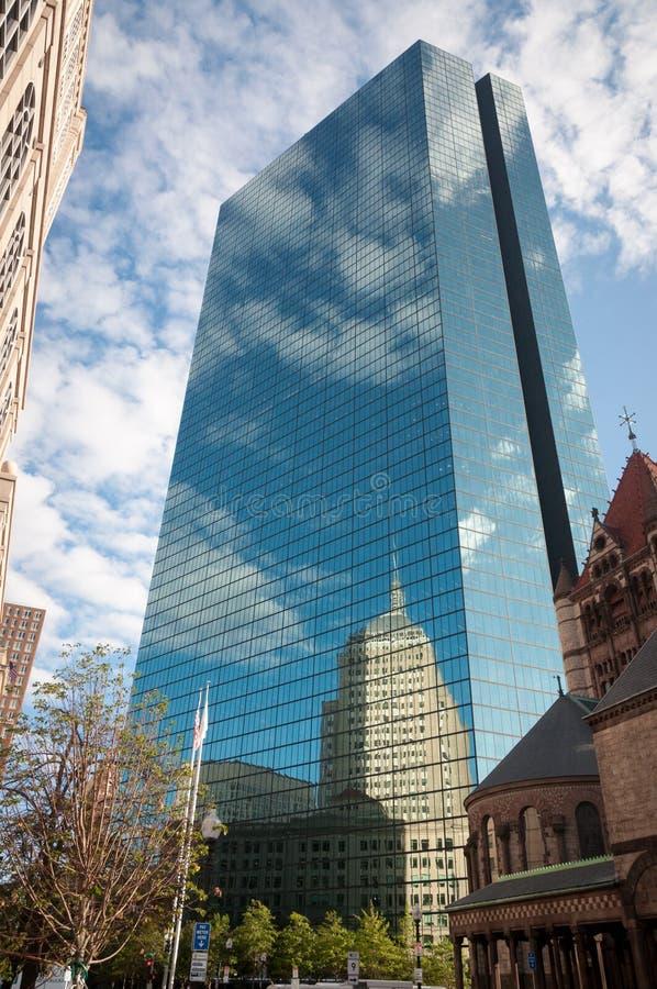 Palais de gratte-ciel de miroir en verre de Boston photographie stock