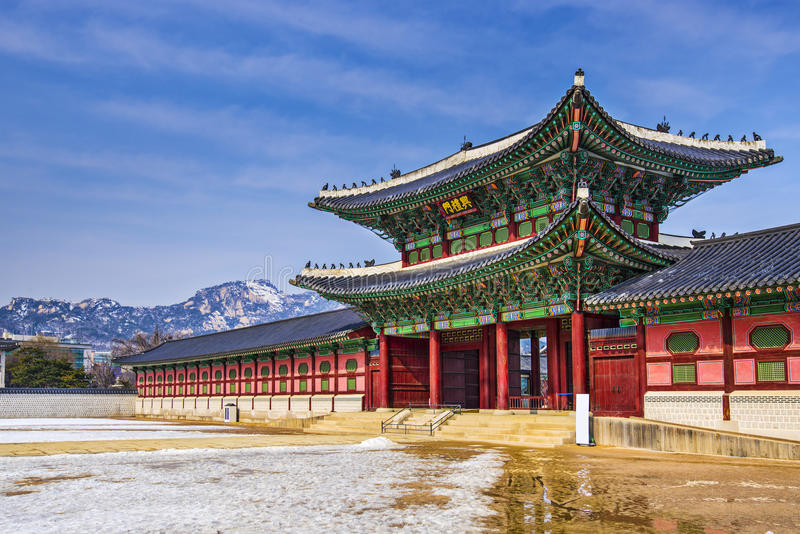 Palais de Gyeongbokgung photo stock