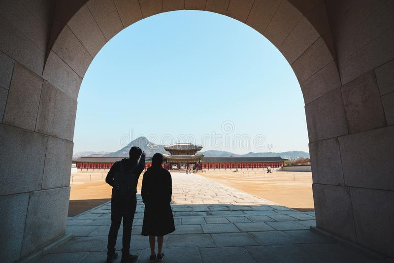 Palais de Gyeongbokgung photographie stock libre de droits