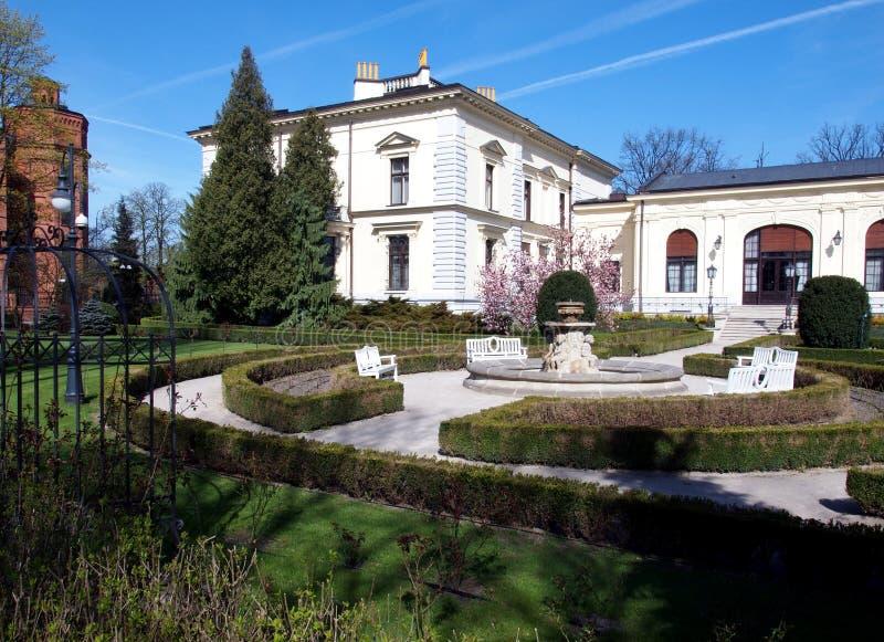 Palais de Herbst à Lodz image libre de droits