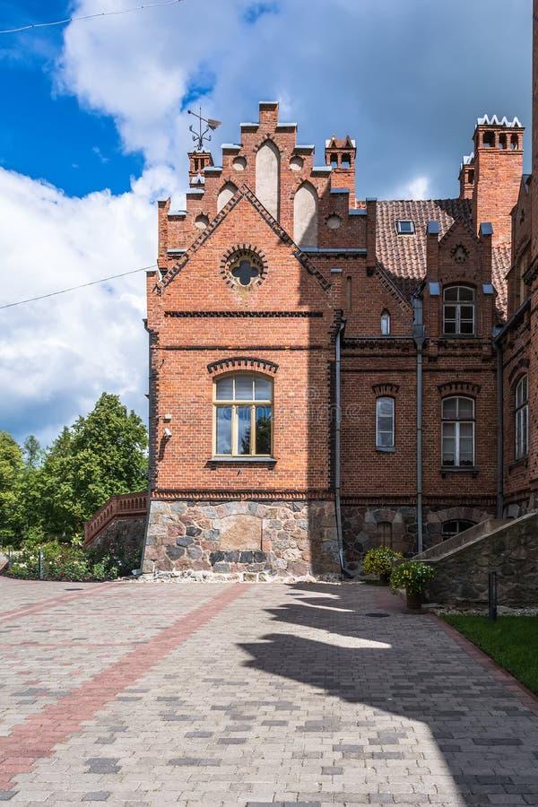 Palais de Jaunmokas en Lettonie images stock