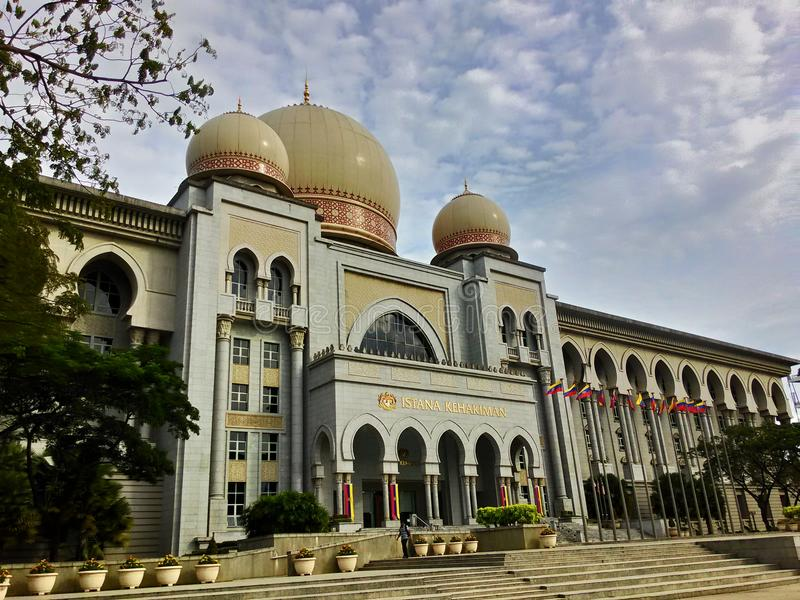 Palais de juge Mahkamah Persekutuan Malaysia photo libre de droits
