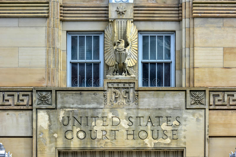 Palais de justice des Etats-Unis - Buffalo, New York photos stock