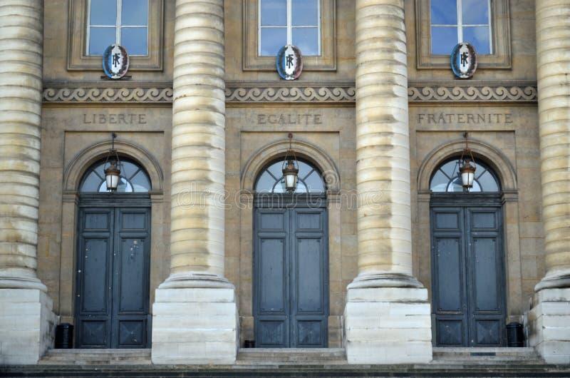Palais de justice París Francia fotografía de archivo libre de regalías