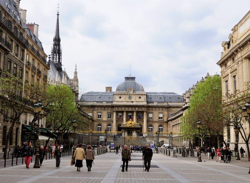 Palais de Justice, Parigi, Francia immagine stock libera da diritti