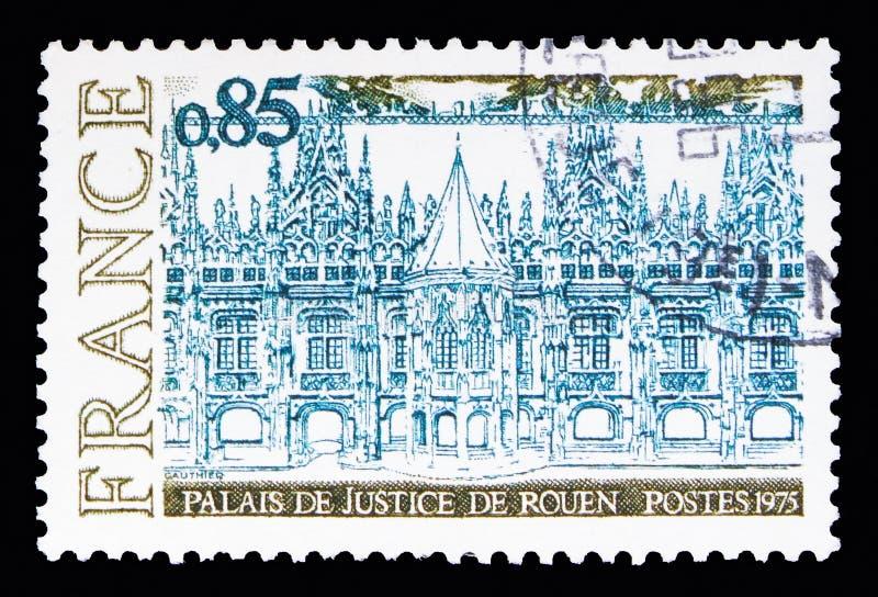 Palais de justice de Rouen, serie de tourisme, vers 1975 photo stock