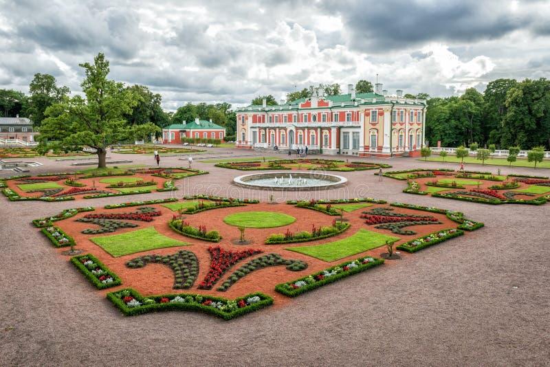 Palais de Kadriorg à Tallinn, Estonie image libre de droits