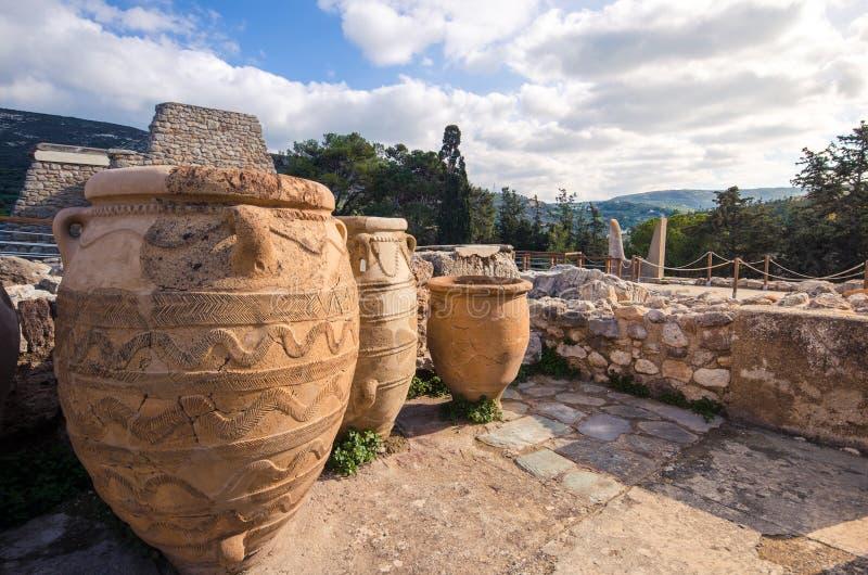 Palais de Knossos, Crète photographie stock libre de droits