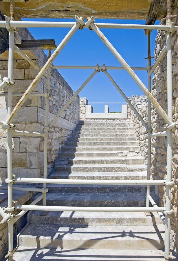 Palais de Knossos Minoan en Crète, Grèce sous le furth images libres de droits
