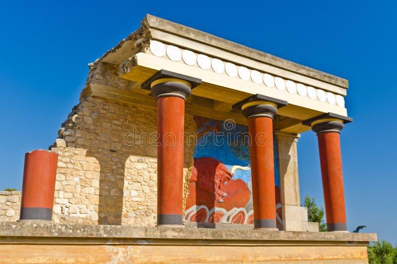 Palais de Knossos près de Héraklion, île de Crète image libre de droits