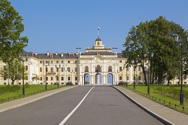 Palais de Konstantinovsky dans Strelna, St Petersbourg, Russie photo stock