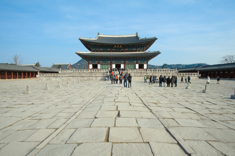 Palais de Kyongbok image libre de droits