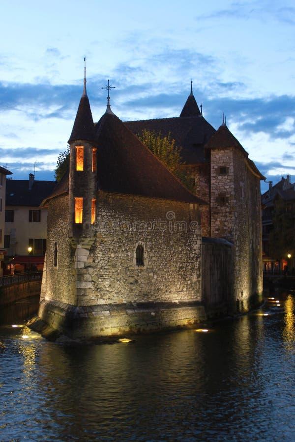 Palais de l'Isle à Annecy, France image stock