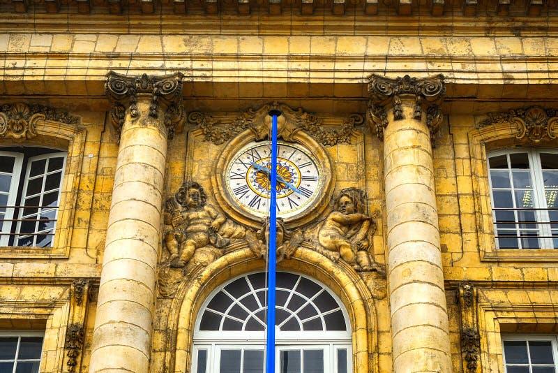 Palais de la Bourse,红葡萄酒,法国 免版税库存图片