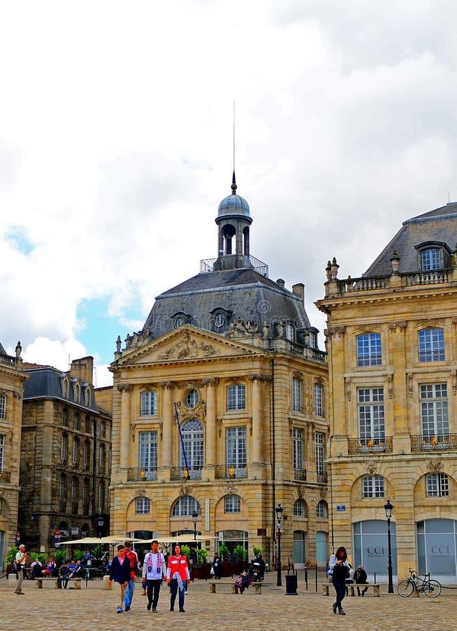 Palais de la Bourse, Bordeaux, France images libres de droits