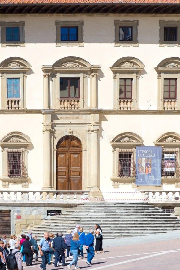 Palais de la configuration Fraternity, Arezzo, Italie images libres de droits