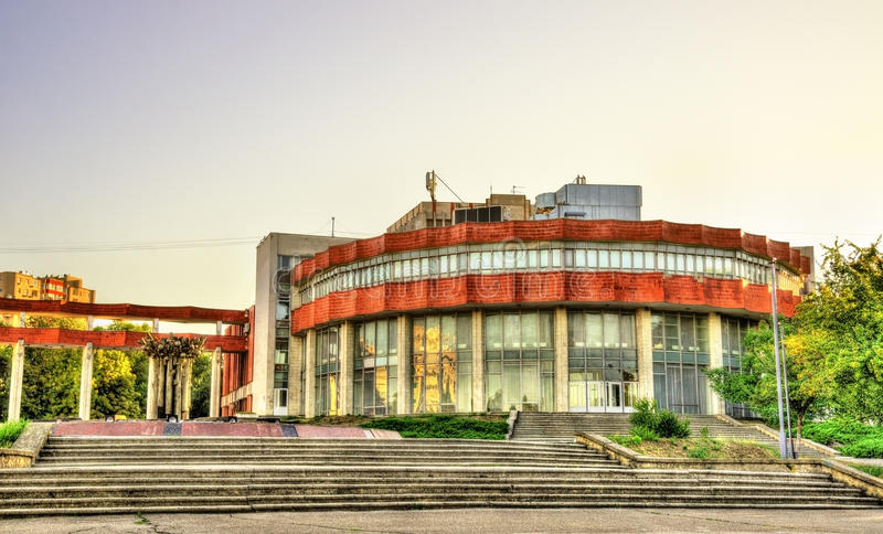 Palais de la culture des travailleurs ferroviaires à Chisinau photographie stock