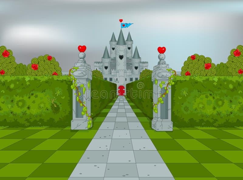 Palais de la reine des coeurs illustration de vecteur