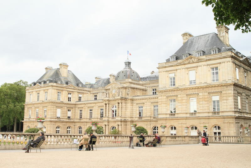 Palais de Luxemburgo fotografía de archivo libre de regalías