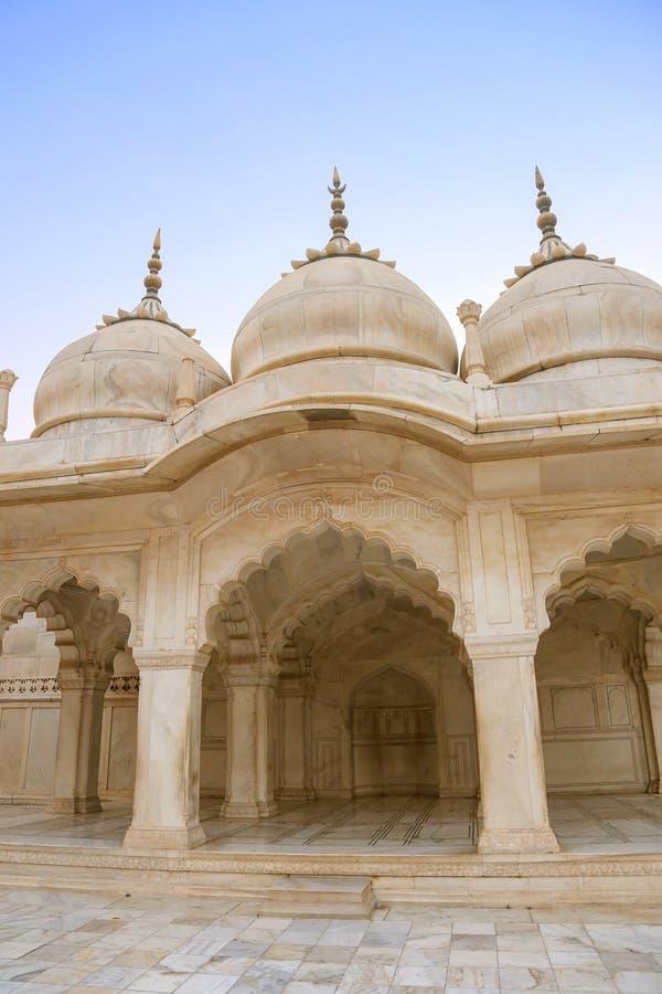Palais de marbre blanc, fort d'Âgrâ, Inde photographie stock libre de droits