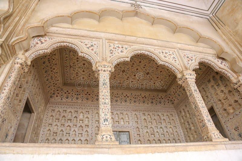 Palais de marbre blanc, fort d'Âgrâ, Inde photographie stock