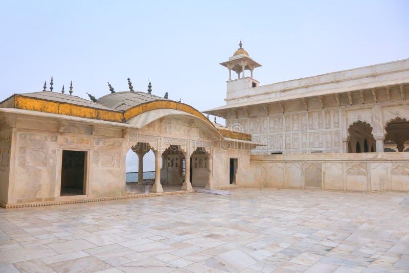 Palais de marbre blanc, fort d'Âgrâ, Inde photo stock