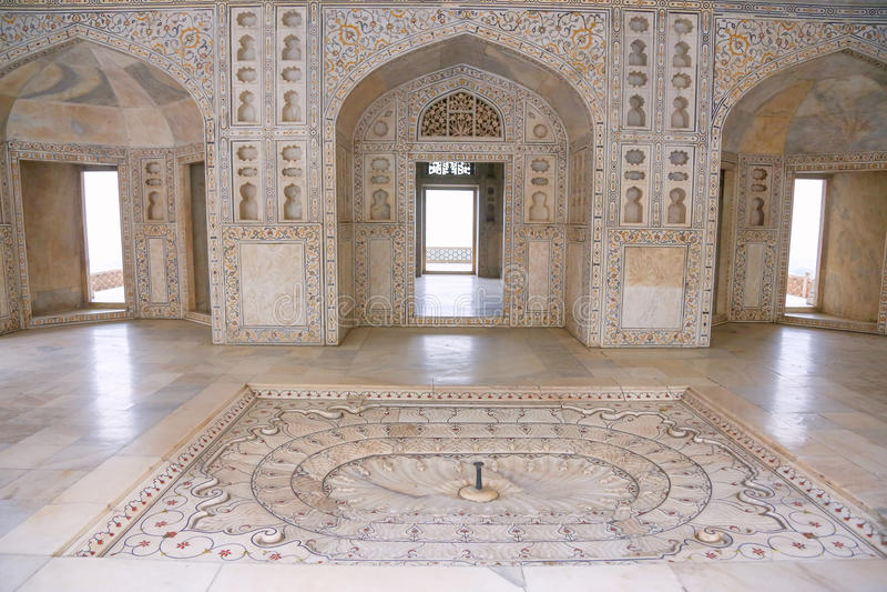 Palais de marbre blanc, fort d'Âgrâ, Inde photos stock