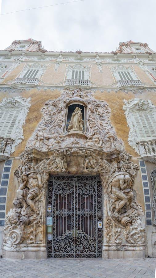 Palais de Marquis de Dos Aguas, musée national Gonzale de céramique image libre de droits