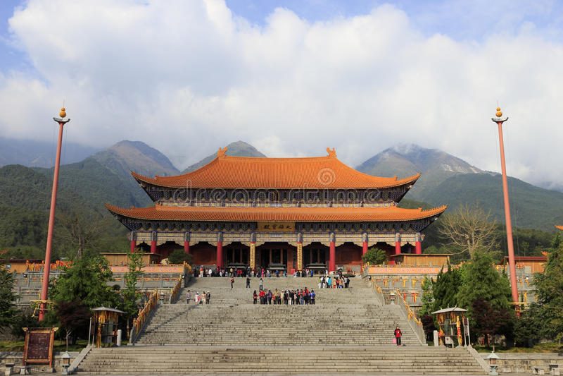 Palais de monastère de chongsheng image libre de droits