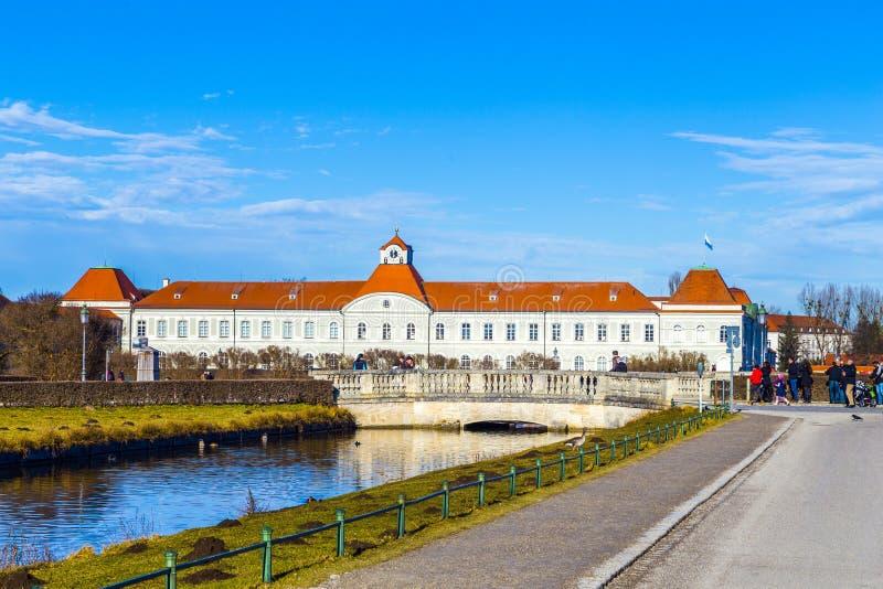 Palais de Nymphenburg, la résidence d'été des rois bavarois images stock