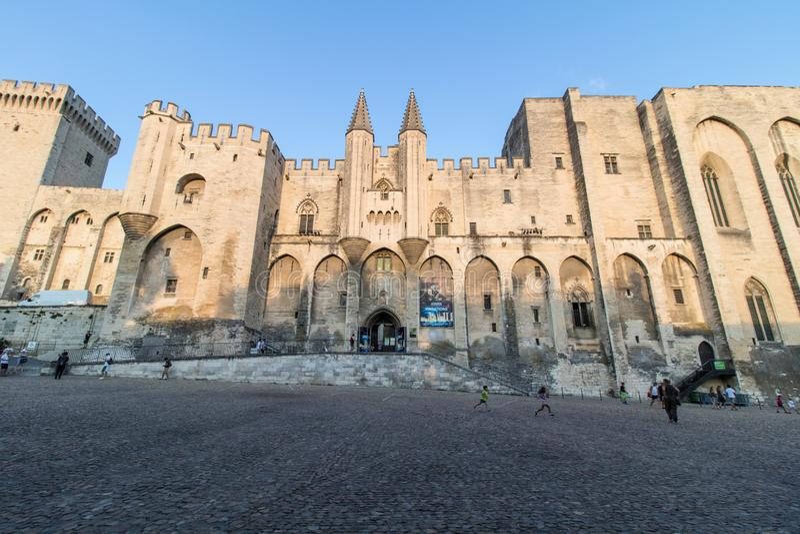 Palais de papes, Avignon, France photos libres de droits
